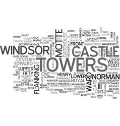 windsor castle text word cloud concept vector image vector image