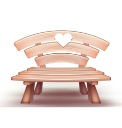 wooden bench vector image