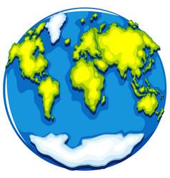 Worldmap on round format vector