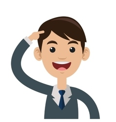 Man pointing head icon vector