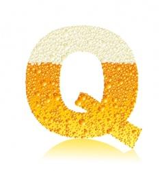 alphabet beer q vector image