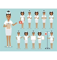 Nurse medical and hospital staff characters vector