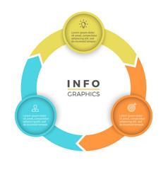 Three steps infographics design element vector image