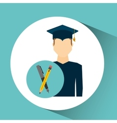 graduate student man writing vector image