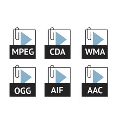 Audio file vector