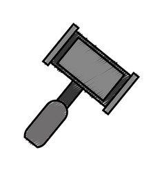 Law hammer icon vector