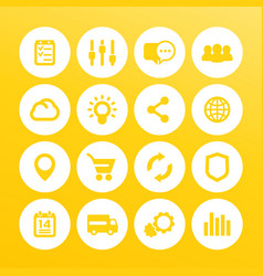 Web icons set internet e-commerce shopping vector