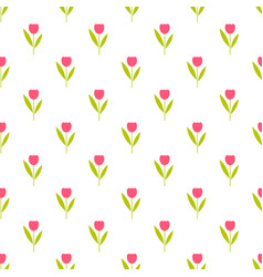Background with red flowers vector