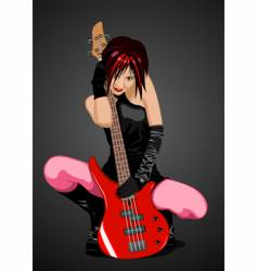 Girl rocker vector