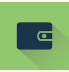 Wallet on background beams vector