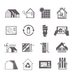 Energy saving house icon vector
