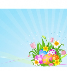 Easter eggs background vector image