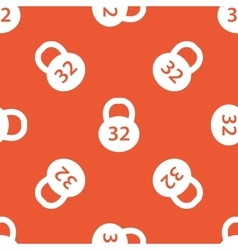 Orange dumbbell pattern vector