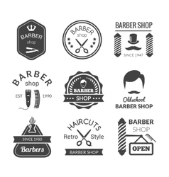Barber shop emblems vector