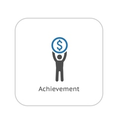 Achievement icon business concept flat design vector