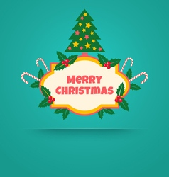 Christmas banner with tree vector
