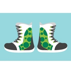 Snowboard sport clothes boots elements vector