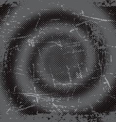 Halftone grunge swirl background vector