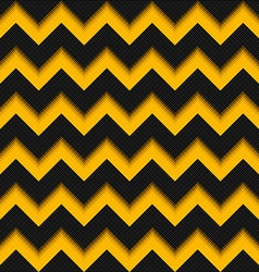 Black and yellow background 3d fiber zigzag vector