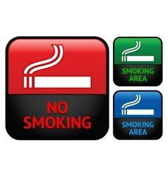 Labels set - no smoking area stickers vector