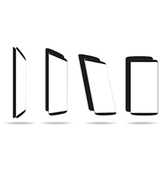 Set black smartphones different angle views vector