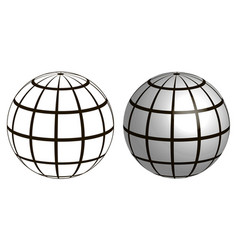 a wire frame planet sphere gratic vector image vector image