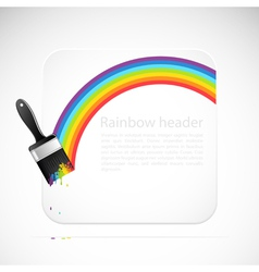 banner with rainbow brush vector image