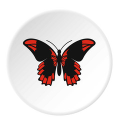 Beautiful butterfly icon circle vector