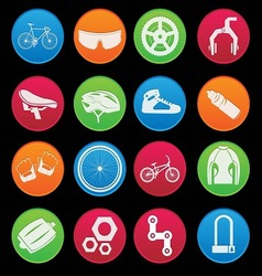Bicycle Icon Set Gradient Style vector image vector image