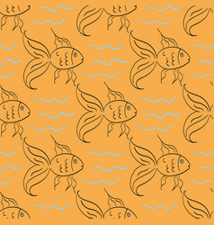 Cartoon gold fish vector