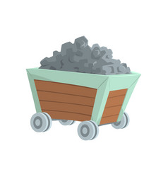 coal mine trolley mining industry concept cartoon vector image vector image