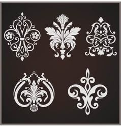 Damask Elements vector image vector image