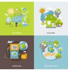 Eco Energy Flat vector image vector image