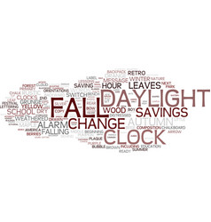 Fall-back word cloud concept vector