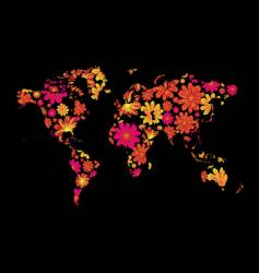 Floral world vector