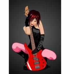 girl rocker vector image