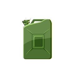 Green jerrycan icon in cartoon style vector image