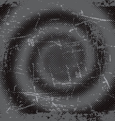 halftone grunge swirl background vector image vector image