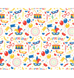 happy birthday or carnival seamless pattern with vector image vector image