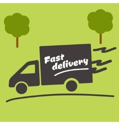 Icon of Fast delivery vector image vector image