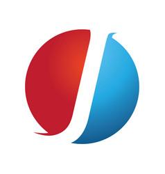 J modern business letter logo design vector