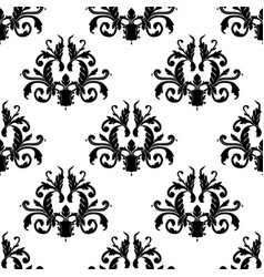 Leafy seamless pattern executed in victorian vector