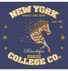 New york horse vector