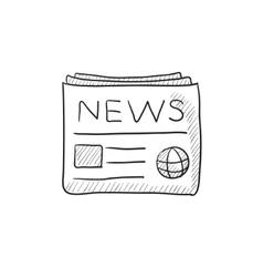 Newspaper sketch icon vector image vector image
