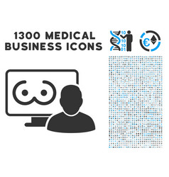 Online erotics viewer user icon with 1300 medical vector