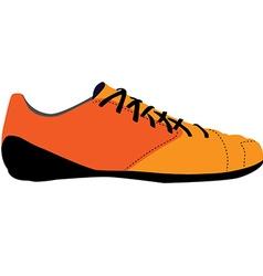 Orange sport shoe vector image vector image