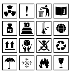 Packing symbols black vector