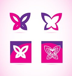 Pink purple butterfly logo vector