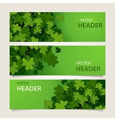 st patricks headers vector image vector image
