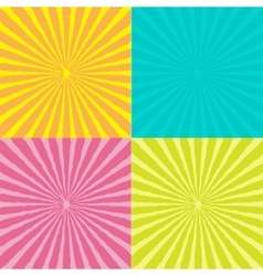 Sunburst set with wave ray of light Template vector image